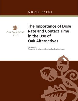 The Importance of Dose Rate and Contact Time in the Use of Oak Alternatives