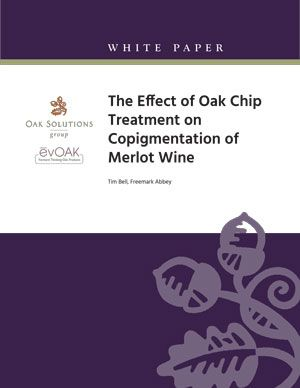 The Effect of Oak Chip Treatment on Copigmentation of Merlot Wine